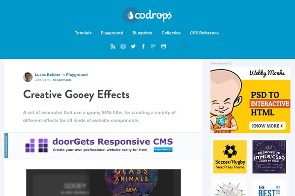 Creative Gooey Effectsサイトイメージ